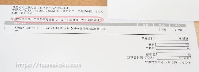 カミカ 明細書